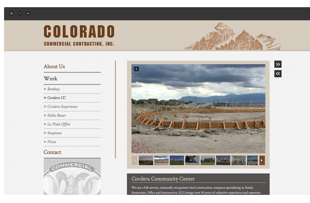 Browser Ansicht Colorado Commercial Contracting Inc.